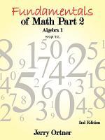 Fundamentals of Math Part 2 Algebra 1 PDF