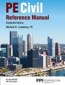 PE Civil Reference Manual Book
