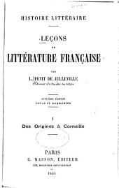 Leçons de littérature française: Volume1
