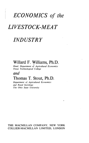 Economics of the Livestock meat Industry