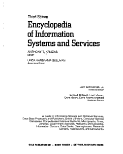 Encyclopedia of Information Systems and Services PDF