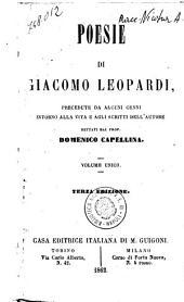 Poesie di Giacomo Leopardi precedute da alcuni cenni intorno alla vita e agli scritti dell'autore dettati dal prof. Domenico Capellina