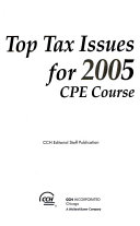 Top Tax Issues for 2005