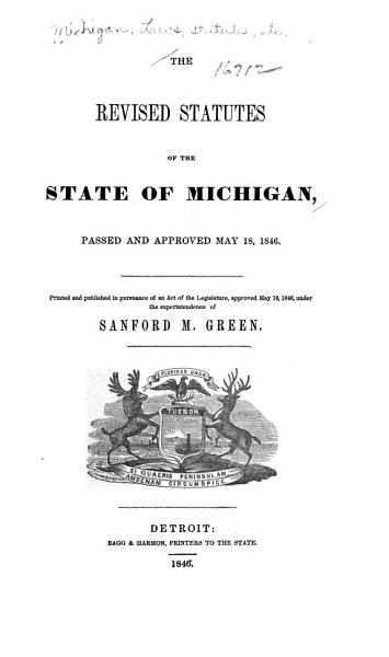 Download The Revised statutes of the state of Michigan Book