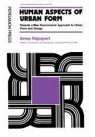 Human Aspects of Urban Form PDF
