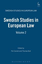 Swedish Studies in European Law -: Volume 2