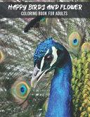 Happy Birds Flower Coloring Book