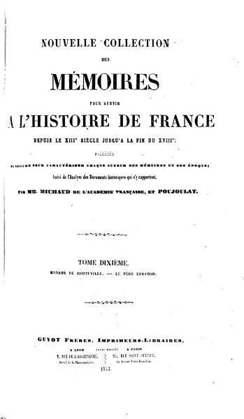 Download Nouvelle Collection Des M  moires Pour Servir    L histoire de France Book