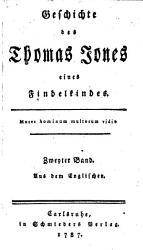 Geschichte des Thomas Jones eines Findelkindes PDF