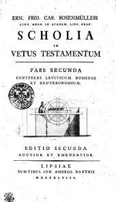Ern. Frid. Car. Rosenmülleri Ling. Arab. in Academ. Lips. Profes. Scholia in Vetus Testamentum: Continens Leviticum numeros et Deuteronomium. Pars secunda, Page 2