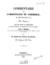 Commentaire sur l'Ordonnance du commerce, du mois de mars 1673