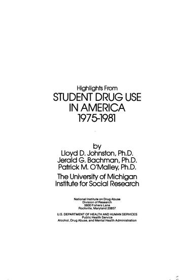 Highlights from Student drug use in America PDF