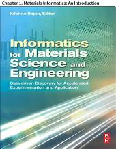 Materials Science and Engineering: Chapter 1. Materials Informatics: An Introduction