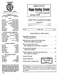 Kentucky Happy Hunting Ground PDF