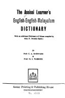 The Assissi Learner's English-English-Malayalam Dictionary
