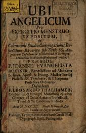 Ubi Angelicum pro exerutio menstruo expositum