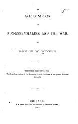 A Sermon on Non-essensialism [i.e. Non-essentialism] and the War