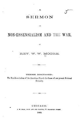 A Sermon on Non essensialism  i e  Non essentialism  and the War PDF