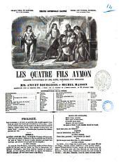 Les quatre fils Aymon légende fantastique en cinq actes par Anicet-Bourgeois et Michel Masson