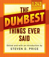 The Dumbest Things Ever Said PDF
