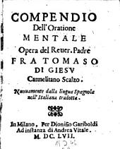 Compendio dell'oratione mentale (etc.)
