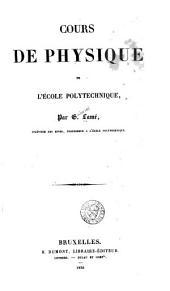 Cours de physique de l'École polytechnique