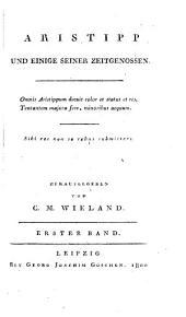 Aristipp und einige seiner Zeitgenossen. Bd 1-4. Leipzig 1800-1801