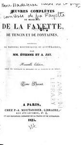 La princesse de Clèves, La comtesse de Tende, La princesse de Montpensier, Mémoires de la cour de France, pour les années 1688 et 1689, 1. ptie. [par Mme. de La Fayette