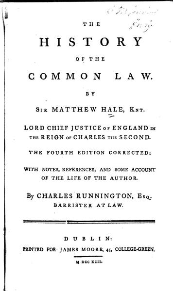 The history of the common law