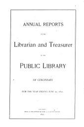 Report [of The] Public Library of Cincinnati and Hamilton County