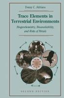 Trace Elements in Terrestrial Environments PDF