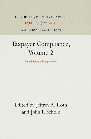 Taxpayer Compliance  Volume 2 PDF