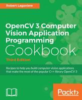 OpenCV 3 Computer Vision Application Programming Cookbook PDF