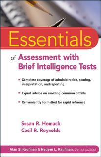 Essentials of Assessment with Brief Intelligence Tests Book