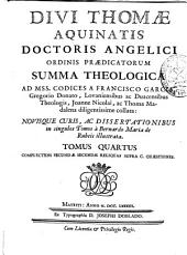 Divi Thomae Aquinatis ... Summa theologica ...