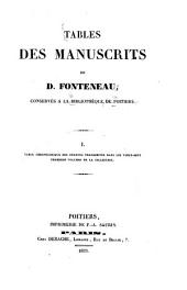 Mémoires de la Société des antiquaires de l'Ouest: Volume4