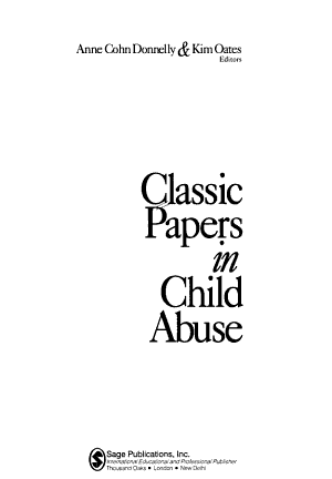 Classic Papers in Child Abuse PDF