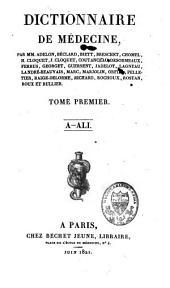 Dictionnaire de médecine: Volume1