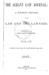 Albany Law Journal: Volume 4