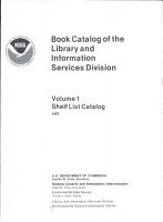 Book Catalog of the Library and Information Services Division  Shelf List catalog PDF