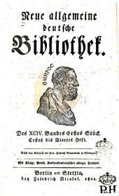 Neue allgemeine deutsche Bibliothek: Band 94