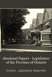 Sessional Papers - Legislature of the Province of Ontario: Volume 7