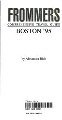 Frommers Guide To Boston 1995
