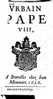 Urbain pape VIII (Lettre pastorale règlant les détails du Jubilé de 1626).