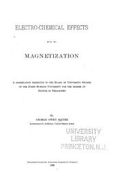 Electro-chemical Effects Due to Magnetization ...