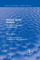 French Rural History  Routledge Revivals  PDF