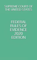 Federal Rules of Evidence 2020 Edition PDF