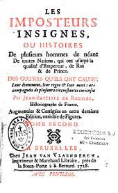 Les Imposteurs insignes: ou histoires de plusieurs hommes de néant...qui ont usurpé la qualité d'empereur...