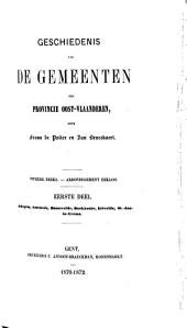 Geschiedenis van de Gemeenten der Provincie oost-Vlaanderen,