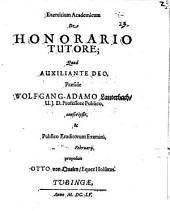 Exercitium Academicum De Honorario Tutore